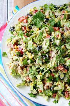 Mexican Chopped Tuna Salad- protein-packed tuna combined with fresh veggies and a creamy taco-flavored dressing makes for the most incredibly tasty tuna salads!