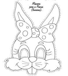 Molde Happy Easter Imagenes | Máscaras de Coelho da Páscoa