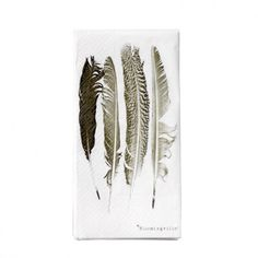 Bloomingville Feathers Paper Napkins - In The Kitchen - Home Accessories Feather Cards, Printed Napkins, Bella Rose, Jam Jar, Ideas Geniales, Feather Print, Paper Napkins, Love And Light, Kitchen And Bath