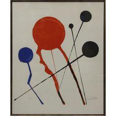 Alexander Calder, Balloons, lithograph Plus Alexander Calder, Jean Arp, Art Students League, Kinetic Art, Textile Fiber Art, Sculptures For Sale, Expo, Simple Shapes, E Design
