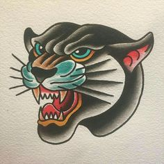 Picture result for Old School Panther Tattoo Flash - Picture result for Old School . - Picture result for Old School Panther Tattoo Flash – Picture result for Old School Panther Tattoo - Traditional Tattoo Sketches, Traditional Panther Tattoo, Traditional Tattoo Old School, Traditional Tattoo Design, Traditional Tattoo Illustration, Flash Tattoos, Flash Tradicional, Tattoos Motive, Ship Tattoos