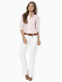 ✔ Striped Oxford Shirt - pink