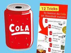 Wie bewertest du den Beitrag? [Gesamt:13  Durchschnitt: 3.5/5] Cola ist ein beliebtes Softgetränk zur Erfrischung bei Jung und Alt. Vor 120 Jahren entwickelte Cola ein Pharmazeut, der eigentlich ein Getränk gegen Kopfschmerzen suchte. Dieses kohlensäure- und koffeinhaltige Erfrischungsgetränk schmeckt nicht nur lecker. Cola lässt sich auch prima für den Haushalt zweckentfremden. Dafür ist hauptsächlich …