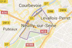 Neuilly-sur-Seine: carte