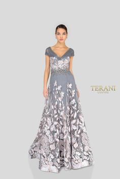 Put spell on everyone as soon as you walk into the room in this feminine Terani Evening dress. One of the most eye-catching thing about this sophisticated Terani Evening dress is its caressing fabric, which is filled with majestic sets of patter Prom Dress Stores, Pageant Dresses, Couture Dresses, Fashion Dresses, Long Evening Gowns, Long Gowns, Long Dresses, Bridesmaid Dresses, Vestidos