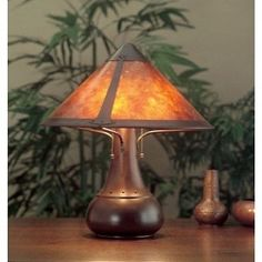 New in Box 013 Large Onion Table Lamp Mica Lamp Coppersmith Collection NIB