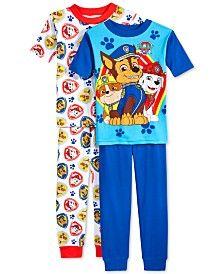 AME Boys' or Little Boys' 4-Piece Paw Patrol Pajama Set