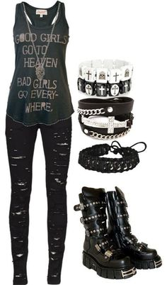 Punk Outfits good girlsbad girls in 2020 punk outfits scene Punk Outfits. Here is Punk Outfits for you. Punk Outfits thats so punk rock of you scene outfits punk outfits. Moda Punk Rock, Teenager Mode, Teenager Outfits, Outfits For Teens, Summer Outfits, Scene Outfits, Punk Outfits, Fashion Outfits, Fashion Trends