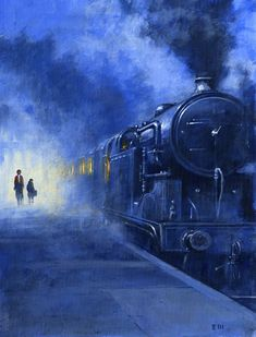 Water Used to illustrate a short story in Woman's Weekly magazine. Scenery Pictures, Train Pictures, Live Steam Locomotive, Around The World In 80 Days, Train Art, Old Trains, Cool Art Drawings, Train Tracks, Belle Photo