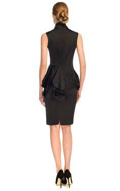 Duchess Satin Sleeveless Cocktail Dress by Marchesa for Preorder on Moda Operandi