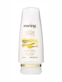 HAIR TIE: Pantene Pro-V Daily Moisture Renewal Silkening Conditioner. Panthenol—a provitamin—and rich moisturizers make hair bouncy and strong so it won't break off or pouf out.