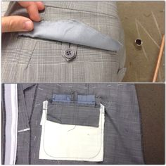 Hip pocket, concealed button and flap #bespoke #handmade #timothyeverest #tailor #spitalfields #princeofwales #check