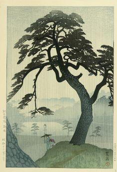 Shiro Kasamatsu,Pine in Rain, 1938.