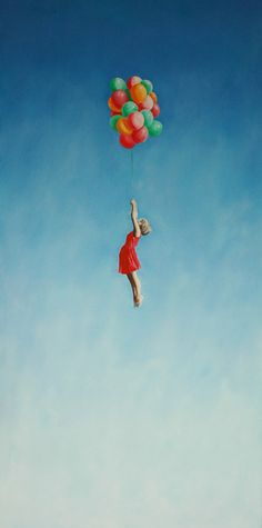 "Saatchi Art Artist: Andrei Engelman; Oil Painting ""Up, Up""~♛"