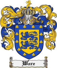 Ware Coat of Arms Ware Family Crest Instant Download - for sale, $7.99 at Scubbly