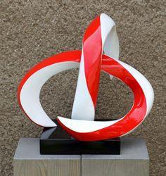 Abstract Art - Crossed Bands - Martin Klein - Fibreglass Figure
