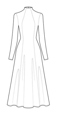 Jackie Dress PDF Details Features Recommended Fabrics JACKIE is an elegant, easy to wear, super comfortable knit dress that slips perfectly from day into night. This style is de Dress Sewing Patterns, Sewing Patterns Free, Clothing Patterns, Long Dress Patterns, Pattern Dress, Illustration Mode, Diy Fashion, Fashion Trends, Fashion Ideas