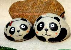 60 Incredible Painting Rocks Design Ideas Perfect For Beginners Panda Painting, Pebble Painting, Pebble Art, Stone Painting, Dot Painting, Painted Rock Animals, Painted Rocks Craft, Hand Painted Rocks, Rock Painting Ideas Easy