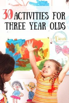 From science and sensory play to arts & crafts, these are some really awesome activities for 3 year olds as they develop motor skills and learn rapidly! Activities For 2 Year Olds, Toddler Learning Activities, Montessori Activities, Educational Activities, Fun Activities, 3 Year Old Preschool, Free Preschool, Three Year Olds, 4 Year Olds