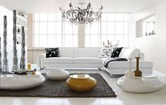 White Living Room Furniture - A stylish living room frame - Home Decoration Luxury Living Room, Beautiful Sofas, Modern Living Room Interior, Contemporary Furniture, Living Room Inspiration, Interior Design Living Room, Living Furniture, Living Room Design Modern, White Furniture Living Room