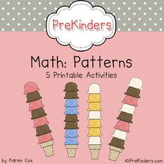 A collection of ideas for teaching patterns in Pre-K and Preschool. Large Group Activities People Patterns At large group, we begin each new pattern by making people patterns. Children line up boy/girl, or sit/stand, or Numbers Preschool, Preschool Math, Math Classroom, Kindergarten Math, Teaching Math, Preschool Ideas, Classroom Ideas, Math Work, Fun Math