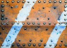 Metal texture con rivetti Archivio Fotografico - 9977646