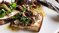 Mixed Mushroom Bruschetta with Truffle Vinaigrette   Recipes - PureWow