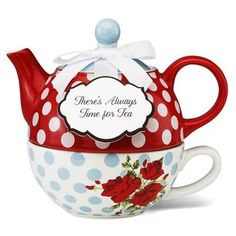 Tea for One... and it's RED... AND it has Polka Dots!! <3