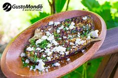 Try baking aubergines and pairing them with ras el hanout & feta cheese. Aubergine Recipe, Ras El Hanout, Oven Baked, Feta, Easy Meals, Easy Recipes, Acai Bowl, Bacon, Lunch
