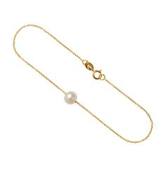 9ct gold freshwater pearl bracelet from our Fine Jewellery Collection. Beautifully elegant. The perfect gift for any woman who loves the classic style of pearls. #pearls #finejewellery #momuse #bracelet #dublin #irishdesign #artisan #design