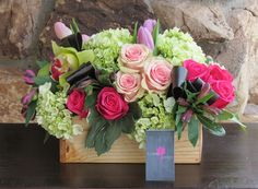 Send the Rose Garden bouquet of flowers from Floral Effect in Santa Clarita, CA. Local fresh flower delivery directly from the florist and never in a box! Rosen Arrangements, Flower Arrangements Simple, Floral Centerpieces, Beautiful Bouquet Of Flowers, Nice Flower, Fresh Flower Delivery, Seasonal Flowers, Plant Decor, Flower Decorations