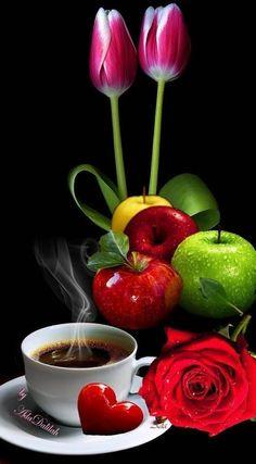 Good Morning Smiley, Good Morning Coffee Gif, Good Morning Nature, Good Morning Beautiful Flowers, Good Morning Images Flowers, Coffee Love, Coffee Break, Mini Desserts, Gif Café