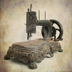 Photo about Isolated brown antique sewing machine. Image of domestic, texture, antiques - 17373342 Sewing Art, Sewing Tools, Love Sewing, Vintage Sewing Notions, Antique Sewing Machines, Old Tools, Sewing Studio, Sewing Accessories, Retro