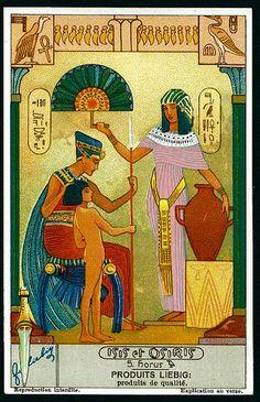 Liebig Tradecard S1280 - Isis & Osiris #5 | Flickr - Photo Sharing!