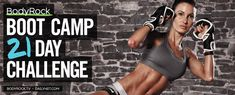 Are you ready for 21 Days of REAL TIME workouts with Lisa?   Challenge starts March 24th!  Click the link to sign up!: http://dailyhiit.com/content/bodyrock-boot-camp-sign