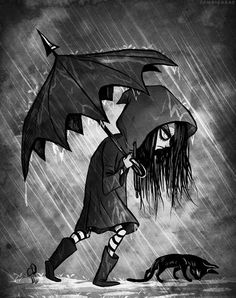 I love me some dark art. Art Emo, Goth Art, Dark Fantasy Art, Dark Art, Dark Gothic Art, Anime Chibi, Manga Anime, Anime Art, Art Sinistre