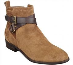 110.86$  Watch now - http://viogq.justgood.pw/vig/item.php?t=hs47zl51947 - Marc Fisher Suede Crisscross Strap Ankle Boots Charlie Dark Tan 8.5M NEW A256930 110.86$