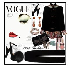 """""""1950s Fashion Contest Entry...#2"""" by onesweetthing on Polyvore featuring T By Alexander Wang, Sonia Rykiel, Ann Taylor, Wendy Yue and Charlotte Tilbury"""