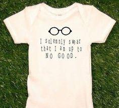 Harry Potter onsie! My child will have this.