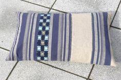 20  SALE  Indigo stripe pillow handmade of by stockholmhearttokyo, $92.00