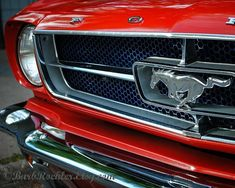 Racy Red - Wall Art -  Retro Print - Vintage Car Photography - Garage Art - Father's Day - Mustang - Grille - Red on Etsy, $25.00