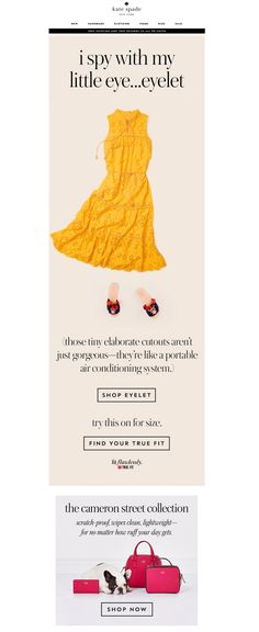 *Animated Dress* Kate Spade Email | Animated Product Laydown