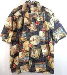 cd857476 Hilo Hattie Hawaiian Shirt Hula Girls Hibiscus Large Front Pocket  #HiloHattie #Hawaiian Aloha Friday