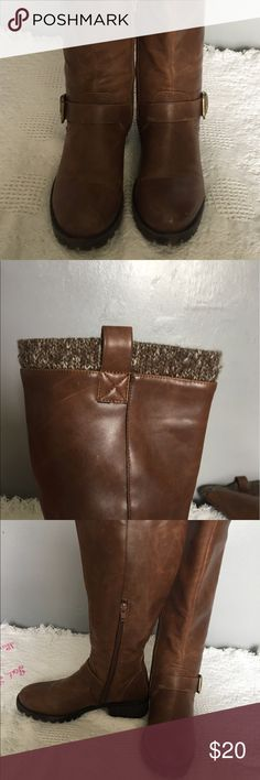 Tall brown boots. OFFERS WELCOMED Barely worn. 1 1/2in heel. Shoes Heeled Boots