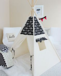 Hey, I found this really awesome Etsy listing at https://www.etsy.com/listing/219976666/arrows-bekko-natural-canvas-play-tent