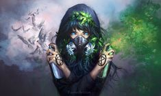 Revive Anime Original Wallpaper Fantasy Girl, Chica Fantasy, Arte Digital Fantasy, Yuumei Art, Infamous Second Son, Me Toque, Original Wallpaper, Dubstep, Comic Artist