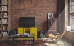 O charme dos tijolinhos aparente: um loft masculino | Casinha colorida#!/2014/02/o-charme-dos-tijolinhos-aparente-um.html