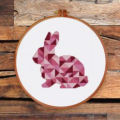 Geometric Bunny cross stitch pattern cross stitch by ThuHaDesign