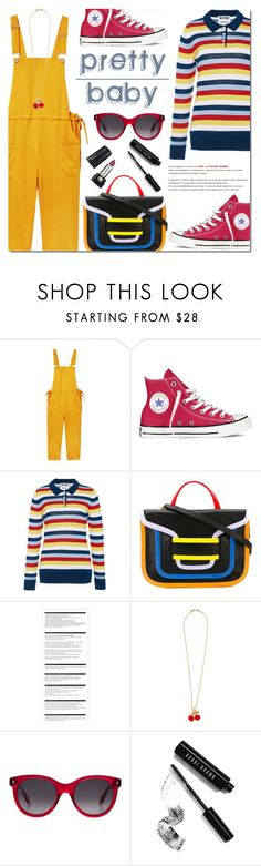 """""""Pretty Baby"""" by bibibaubau ❤ liked on Polyvore featuring Violeta by Mango, Converse, Holly Fulton, Pierre Hardy, Arche, Kenneth Jay Lane, Alexander McQueen, Bobbi Brown Cosmetics and Marc Jacobs"""
