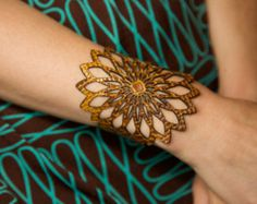 Mandala leather bracelet. Laser cut mandala by RockBodyLeather